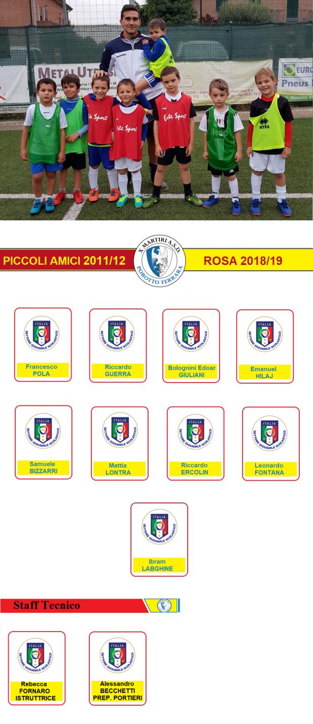 PICCOLI AMICI 2015-2016