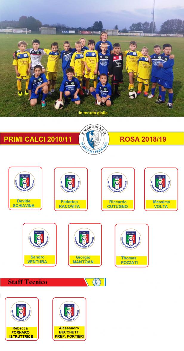 PRIMI CALCI 2013-2014