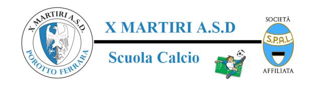 ISCRIZIONE  SCUOLA CALCIO  X MARTIRI A.S.D. 2021/2022