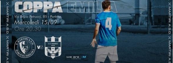 Coppa Emilia 32esimi di Finale – La X Martiri sfida il Consandolo Calcio per il passaggio in Coppa