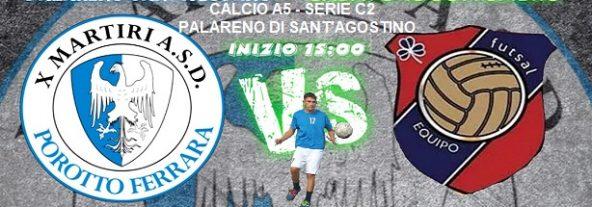 Campionato di C2 Ca5 – Al Palareno di Sant'Agostino la X Martiri sfida l'Equipo Futsal di Crevalcore